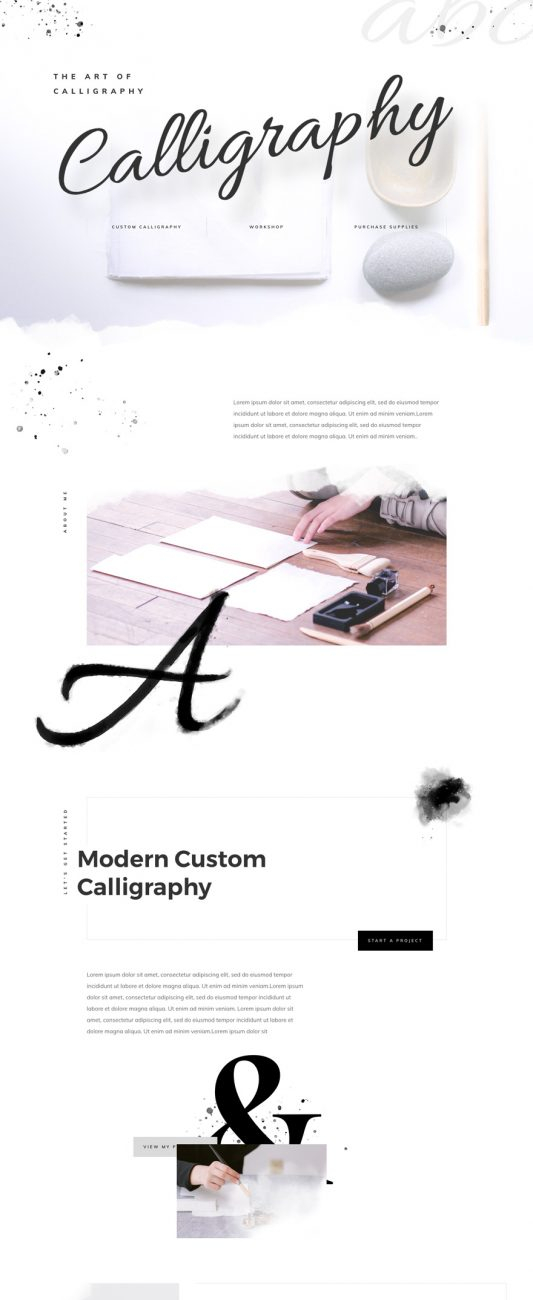 calligrapher-landing-page-533x2548