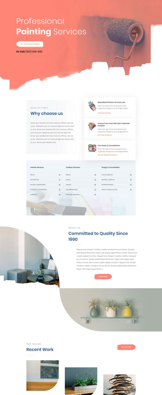 painting-service-landing-page-533x2192